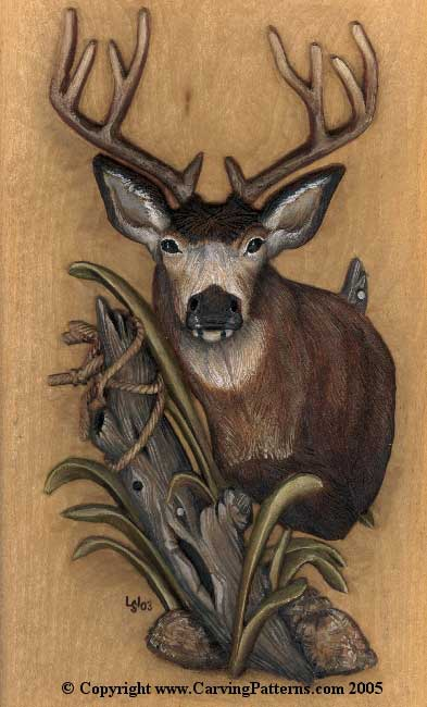 ... carved Mule Deer will be the bases for this tutorial's wood burning