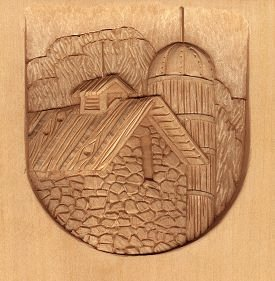 Landscape Relief Wood Carving by L. S. Irish
