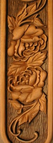 Floral clock wood carving project by l s irish lsirish