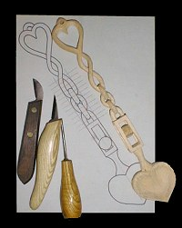 Wood Carving Beginner S Project The Welsh Love Spoon By L