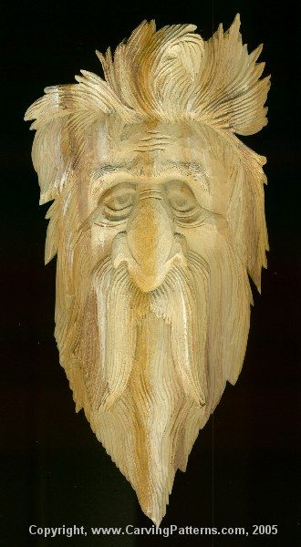 Carving the relief wood spirit by l s irish page