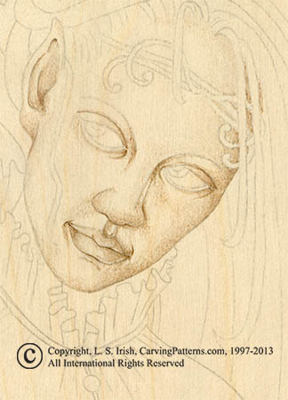 Pyrography Steps For Portrait Burning By L S Irish