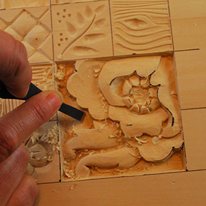 the cuts, strokes, and shaping techniques used in relief wood carving ...