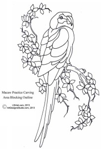 L S Irish macaw outline pattern