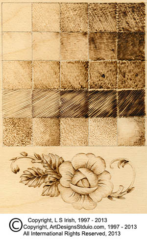 solid fill pyrography patterns