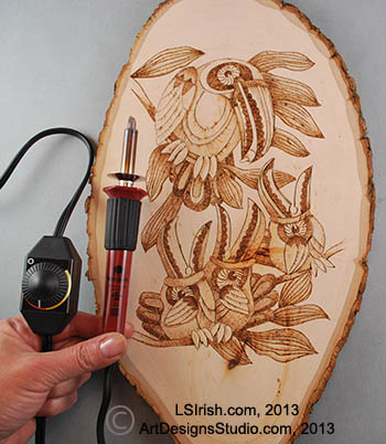 Basic Wood Burning and Pyrography Tools, Tips, and Free Pattern by L S ...