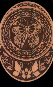 birch bark carving project
