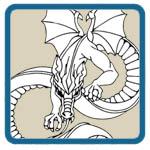 dragon, wood spirit, greenman patterns by Lora S Irish