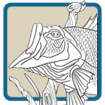 Fresh Water Fishing Mantel Line Art Patterns by Lora S Irish