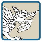 gargoyle, dragon, griffin corner patterns by Lora S Irish