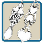 Welsh love spoons and celtic knot patterns by Lora S Irish