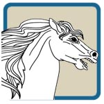Assorted Horse Line Art Patterns by Lora S Irish