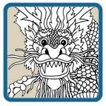 oriental dragon mantel patterns by Lora S Irish