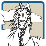 western horse, cowboy patterns by Lora S Irish