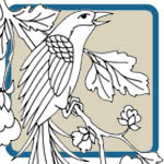 Oriental birds, peony, lyre bird patterns by Lora S Irish