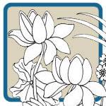 Lotus flower patterns by Lora S Irish