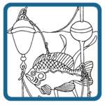 ice fishing, fish, frog, mouse decoy patterns by Lora S Irish