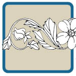 flower lines and border patterns by Lora S Irish