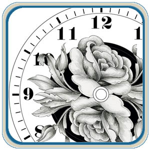 Flower clock face patterns by Lora Irish