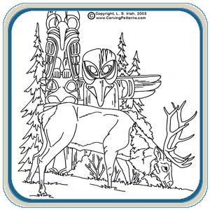Elk and Wildlife Patterns by Lora Irish