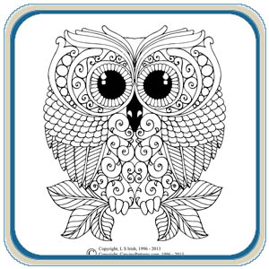 Owl and Mushroom pattern by Lora S Irish