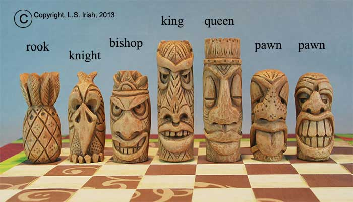 Tiki Chess Set, Beginner's Wood Carving Project by Lora S. Irish ...