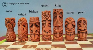 Tiki Chess Set by Lora Irish