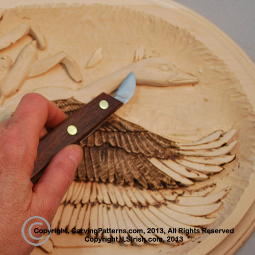Free online relief wood carving project flying canada