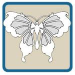 Fretwork, scroll saw, wind chime butterfly patterns by Lora S Irish