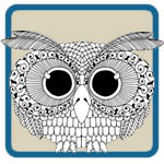 1095's, 1960's, 1970's retro owls and mushroom patterns by Lora S Irish