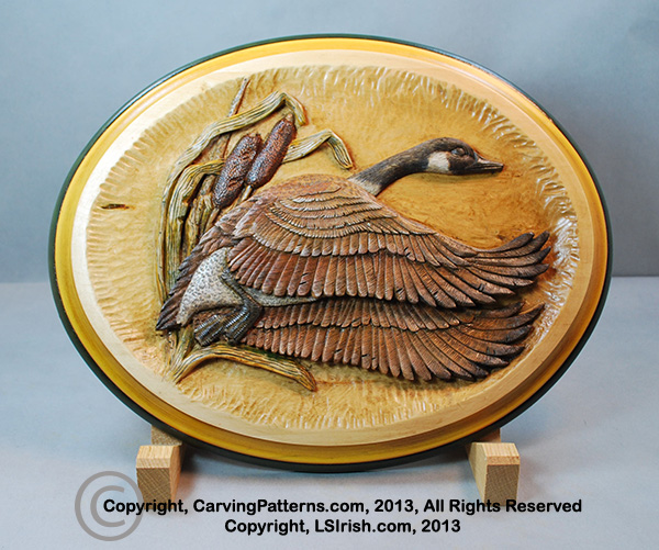 In-Depth Free Online Relief Wood Carving Canada Goose Project by L. S. Irish, Step-by-step ...