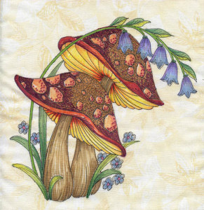 mushroom patterns by Lora S Irish