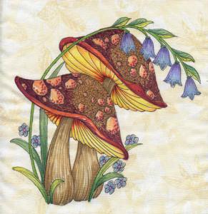 mushroom patterns by Lora S Irish
