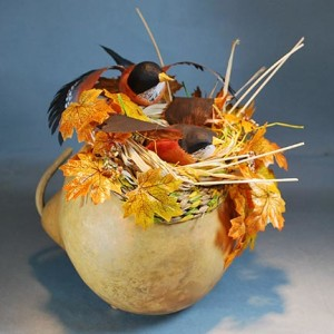 gourd art by Lora S Irish