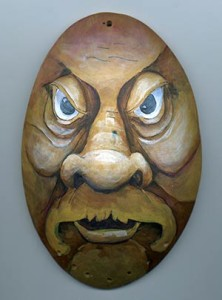urban warrior wood spirit gourd mask
