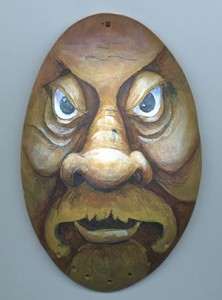 urban warrior wood spirit gourd face