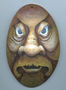 urban warrior wood spirit gourd face
