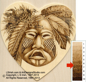 Ceremonial Mask Pyrography by Irish