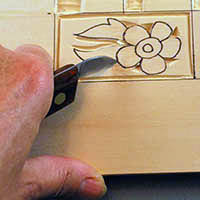 stop cut using a bench knife