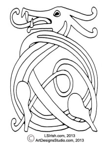 free celtic dragon knot by Lora Irish