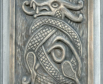 Wood Carving Celtic Dragon 2