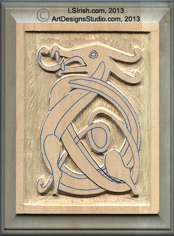 Celtic wood carving patterns images for Easy relief carving patterns