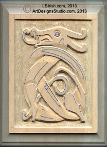 general shaping of a reliefwood carving