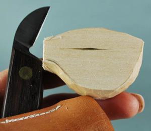 cutting the basic body of a fish decoy