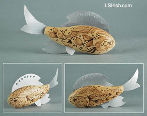 Pyrography Fish Decoy