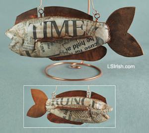 Scrapbook fish decoy