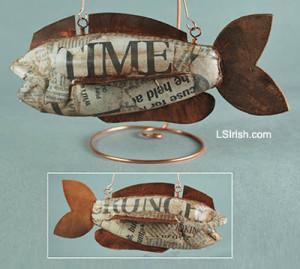 Scrapbook fish decoy