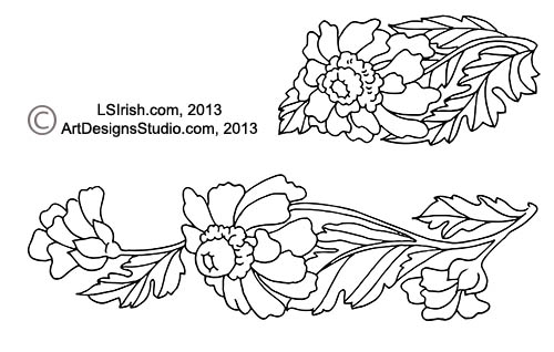 Simple Shading in Wood Burning Daisy Pattern Project and Free ...