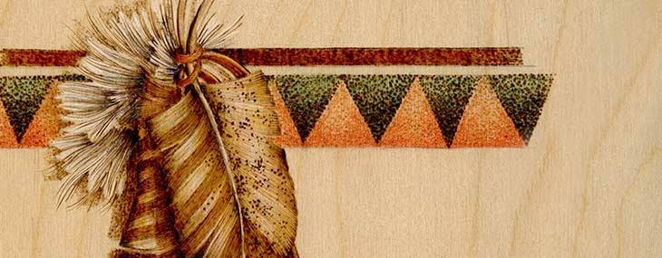 Pyrography Feather Border 1