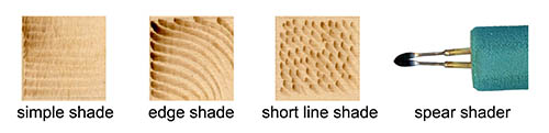 long pull shading stroke for wood burning